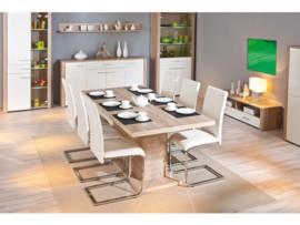 Mesa de comedor extensible roble