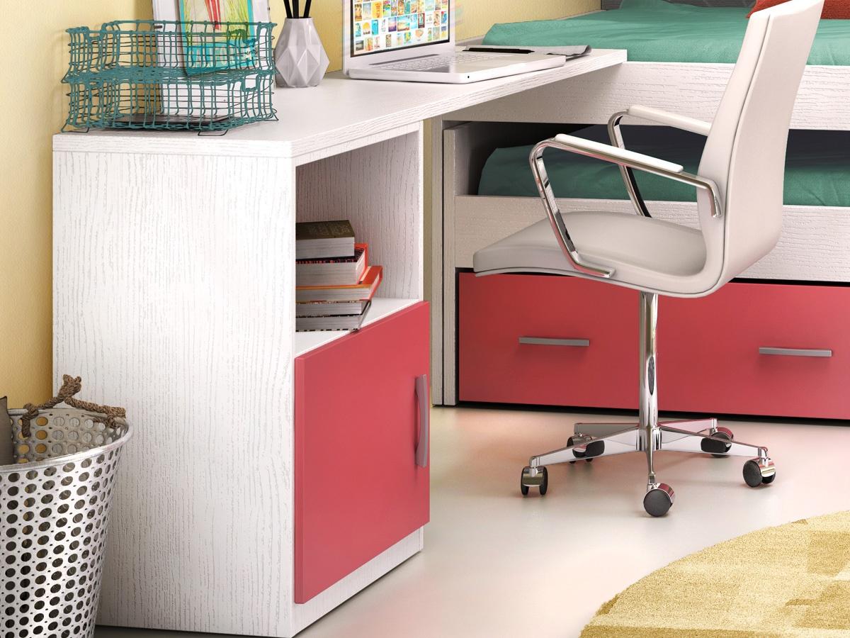 Escritorio lateral con puerta basic - Mesa escritorio juvenil ...