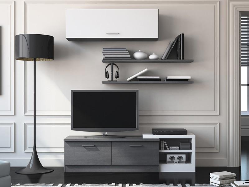 Muebles de tv de dise o idea creativa della casa e dell for Mueble compacto tv