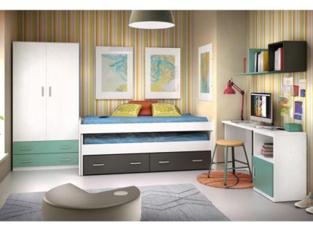 Habitaci n joven de dos camas nido en block personalizable - Camas nido modernas ...
