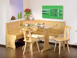 conjunto de mesa sillas y banco de madera