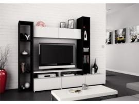 Mueble modular apilable de salón con estantería