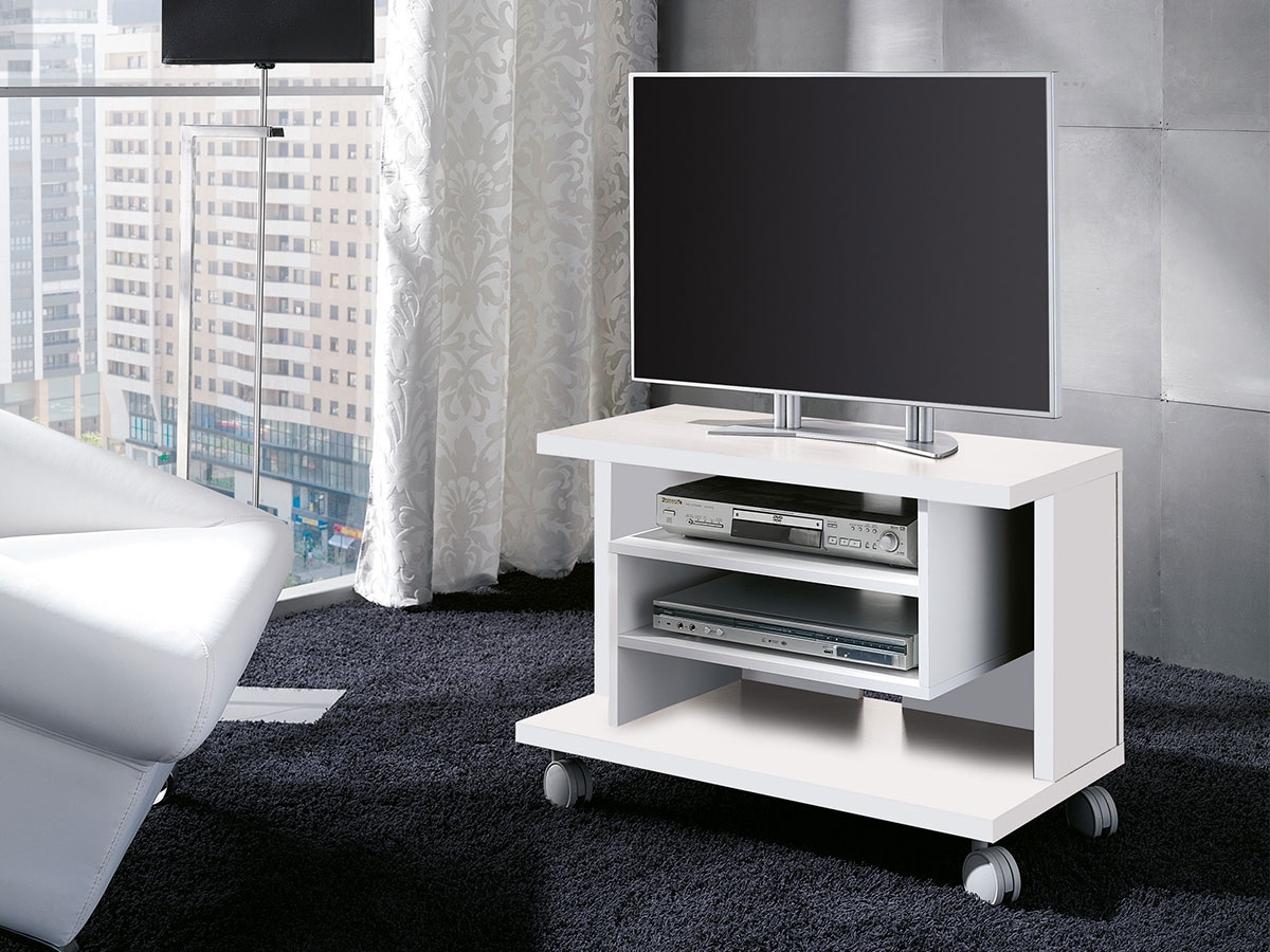 Mueble con ruedas mueble auxiliar polivalente con ruedas - Mueble tv con ruedas ...