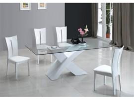 Mesa de comedor de diseño, mesa vanguardista modelo Elite en oferta