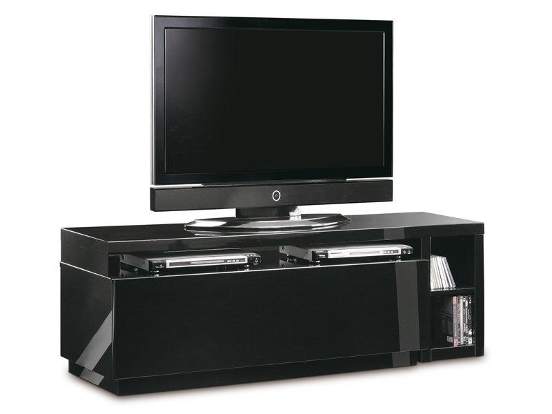 Mueble de televisi n giratorio lacado en blanco o negro for Mueble zapatero giratorio