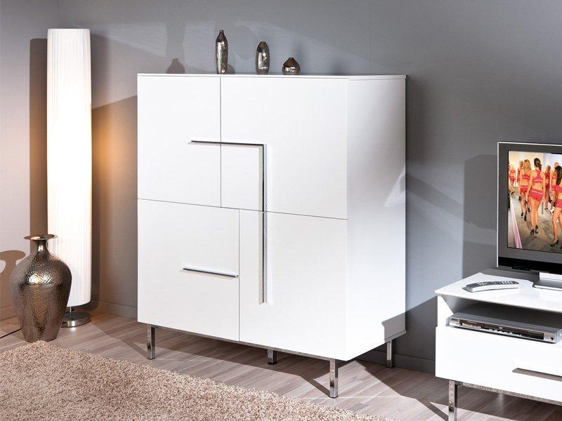 Mueble Blanco Moderno Salon Comedor