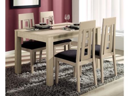Comedor con mesa y sillas de dise o modelo extensible con for Mesas y sillas de comedor