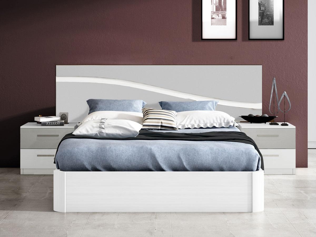 Mueble dormitorio moderno y elegante - Cuadros cabecera cama ...