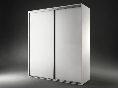 Armario de dormitorio blanco negro oferta armario puerta for Oferta puerta corredera