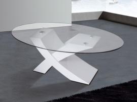 Mesa centro con base en X