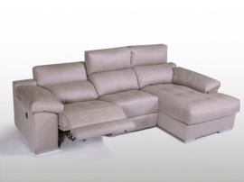 Sofá chaisselongue con relax eléctrico