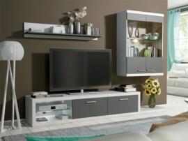 Mueble de vitrina y para tv en salón