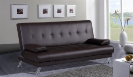 Sofá cama clic-clac en polipiel