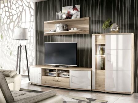 Sal n conjunto de mueble modular vitoria para tv y - Muebles oficina vitoria ...