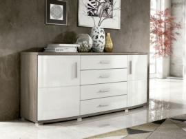 buffet moderno blanco y roble