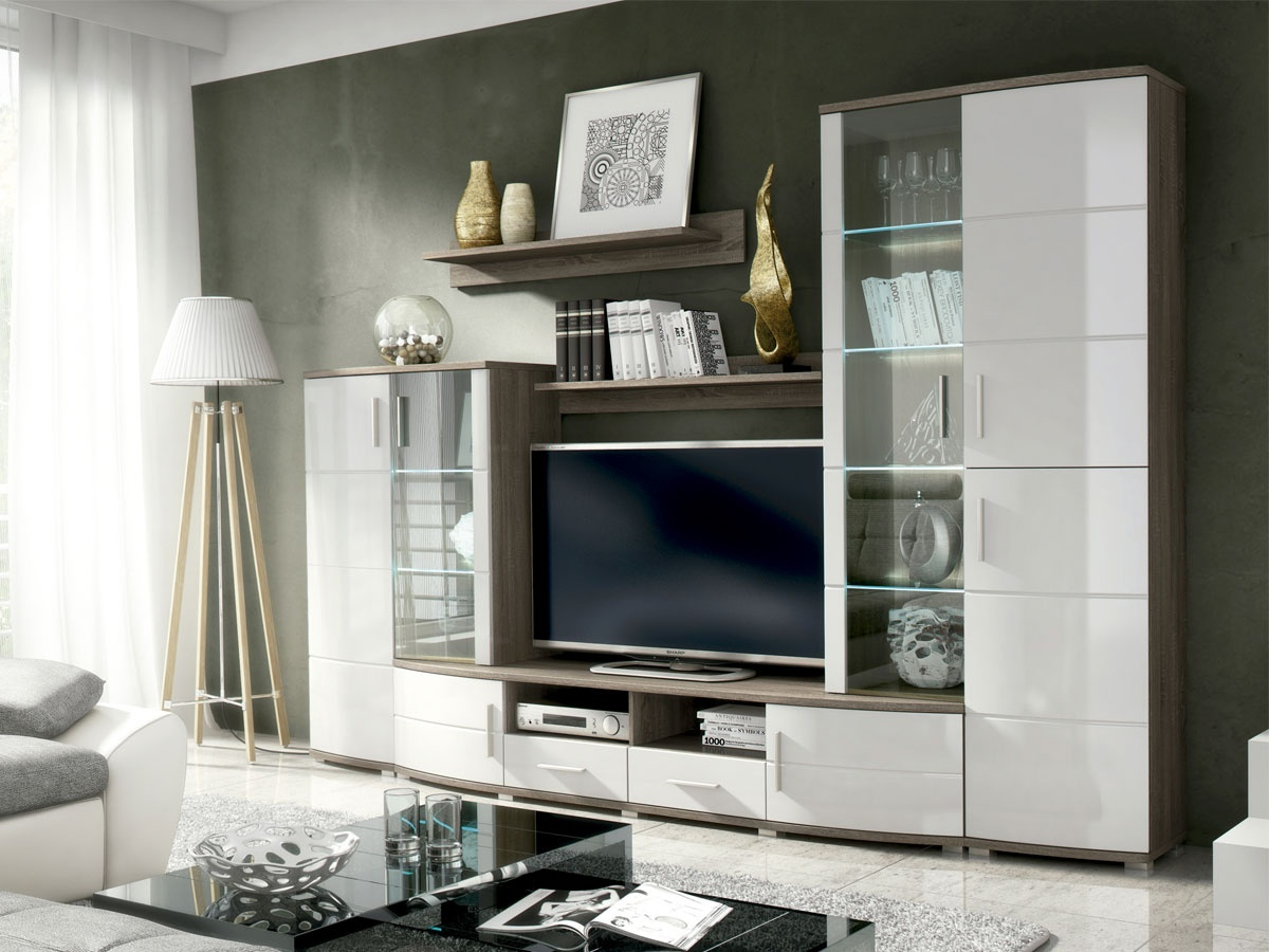 Mueble para tv en esquina for Decoracion mueble tv
