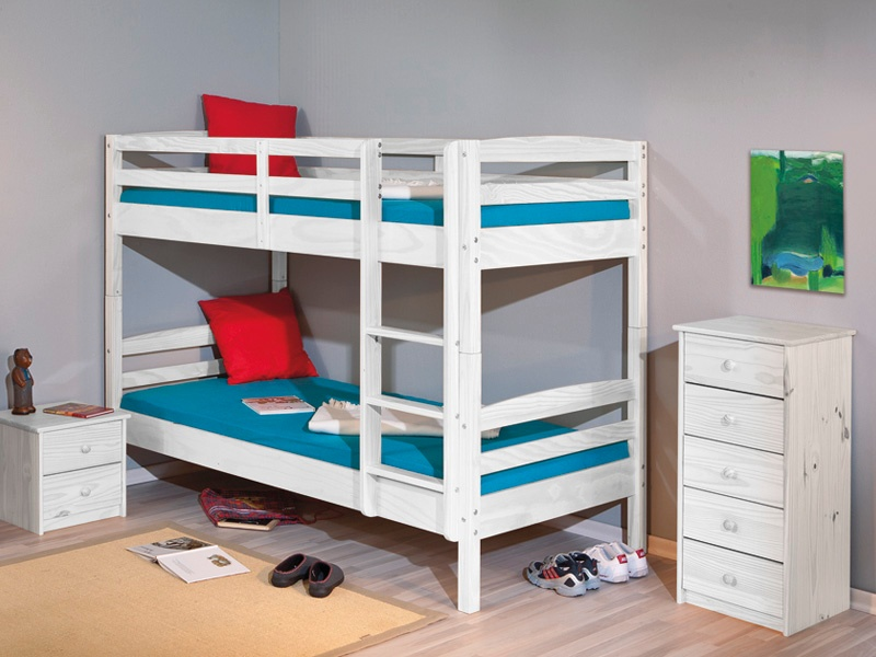 Litera de cama juvenil doble para dormitorio compartido 2 - Habitacion con literas para ninos ...