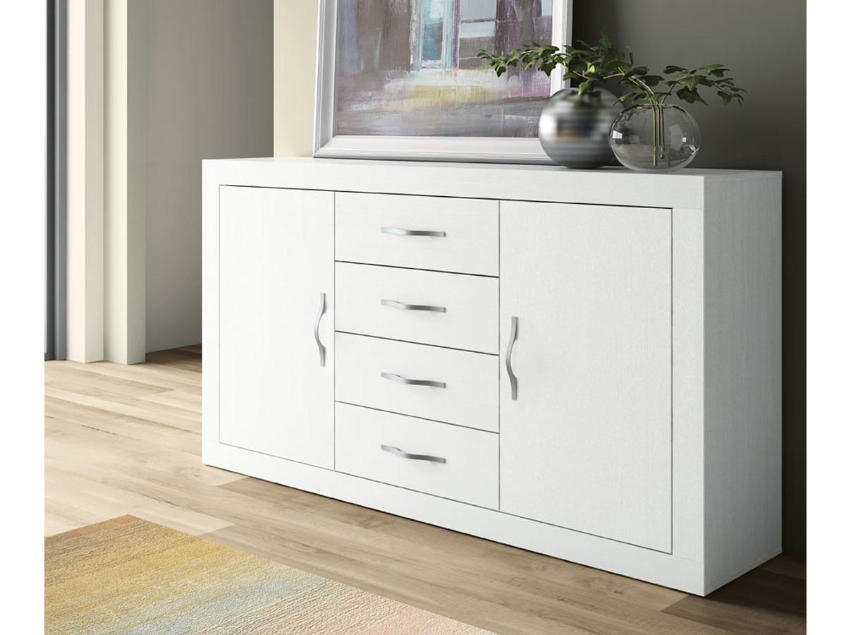 Estanter a de sal n apilable blanca mueble de comedor for Muebles auxiliares para television