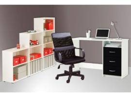 Mesa de ordenador + Sillón de oficina+Estantería