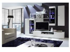 Mueble apilable blanco para salón
