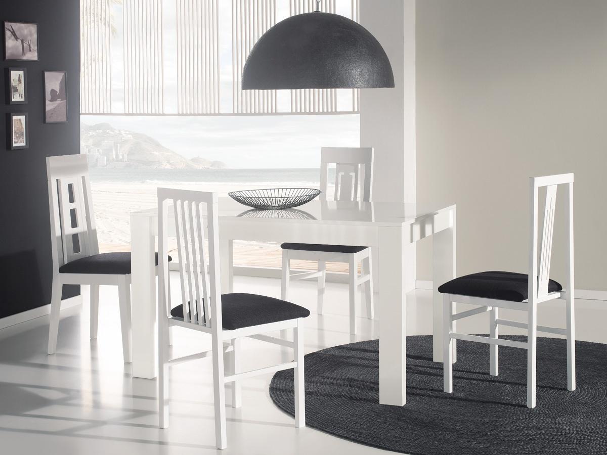 mesa extensible de cristal con sillas, mesa extensible con sillas, mesa extensible, mesa con sillas blanco y negro, mesa de cristal extensible, mesa color blanco, comprar mesa extensible de cristal, mesa extensible salon, mesas grandes, comprar mesa grande
