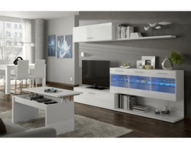 Salón modular blanco con Leds