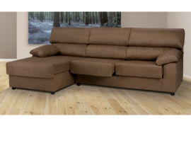 Sofá chaise longue con asientos extraíbles