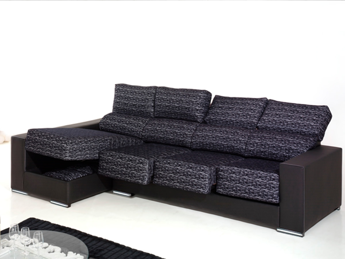 Sof ergon mico chaise longue tapizado polipiel o tela en for Sofas de polipiel