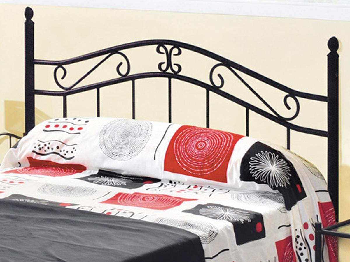 Cabecero cama forja de hierro, mueble forja pintado en negro