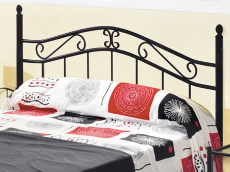 Cabecero cama forja de hierro mueble forja pintado en negro - Cabecero hierro forjado ...