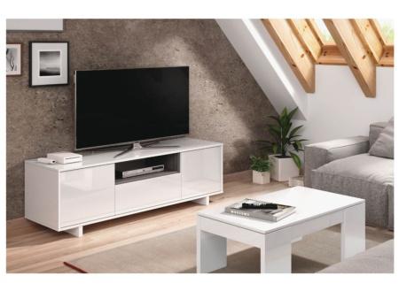 Mueble tv en alto brillo mesa televisi n con acabado en - Mesa auxiliar de cama ...
