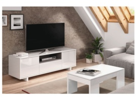 Mueble para tv en blanco brillo