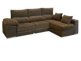 Sofá con chaise longue de diseño