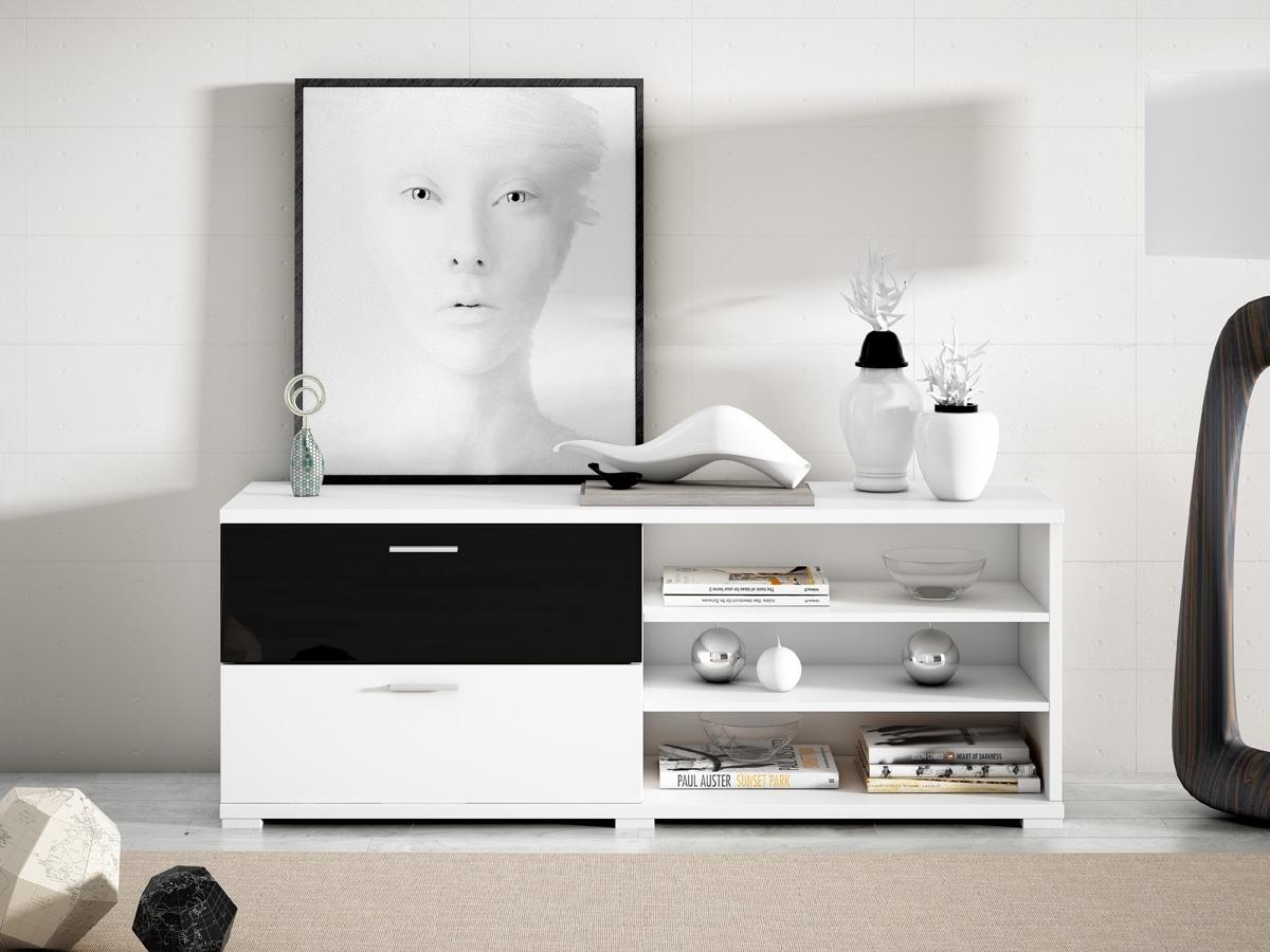 Muebles para tv modernos, mesas de diseño madera y cristal cajones