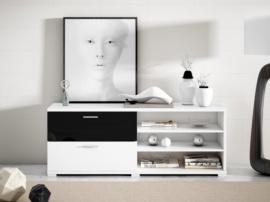 Mesa TV con cajones y estantes
