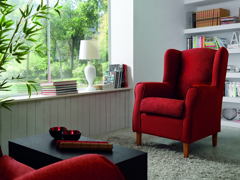 Sillon Pequeo Para Salon Cool Tendencias Decoracin Rojos