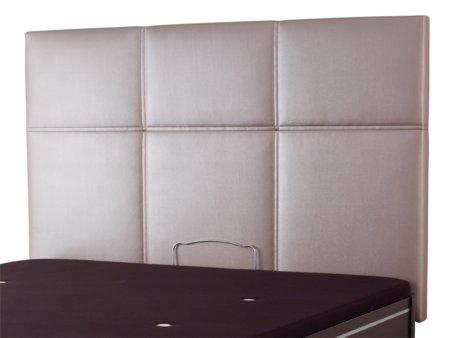 Cabecero cama a cuadros oferta cabezal de cama tapizado color plata - Cuadros cabecero cama ...
