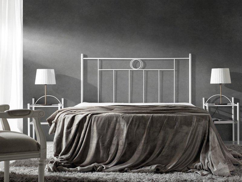 Cabezal cama forja atenea cabecero dormitorio hierro blanco negro - Cabeceros de hierro ...