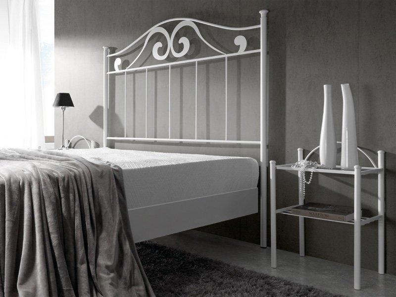 Cabezal de forja modernista, cama forja dormitorio de líneas curvas