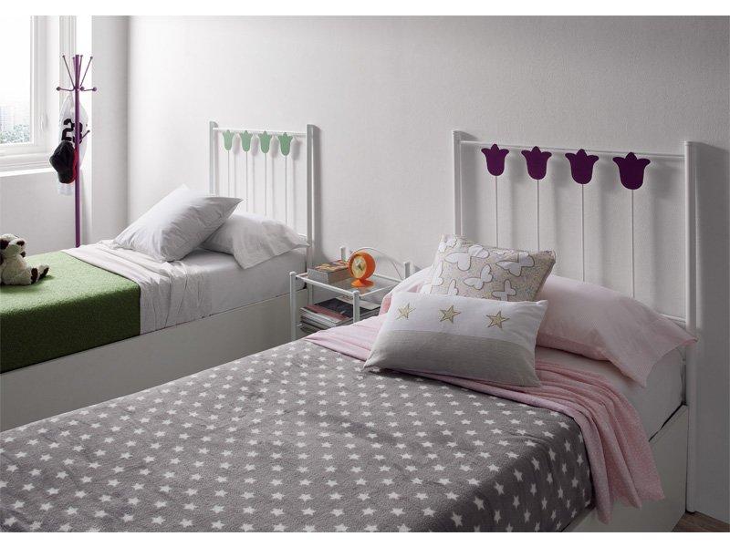 Cabecero forja en blanco, mueble hierro forjado para tu dormitorio