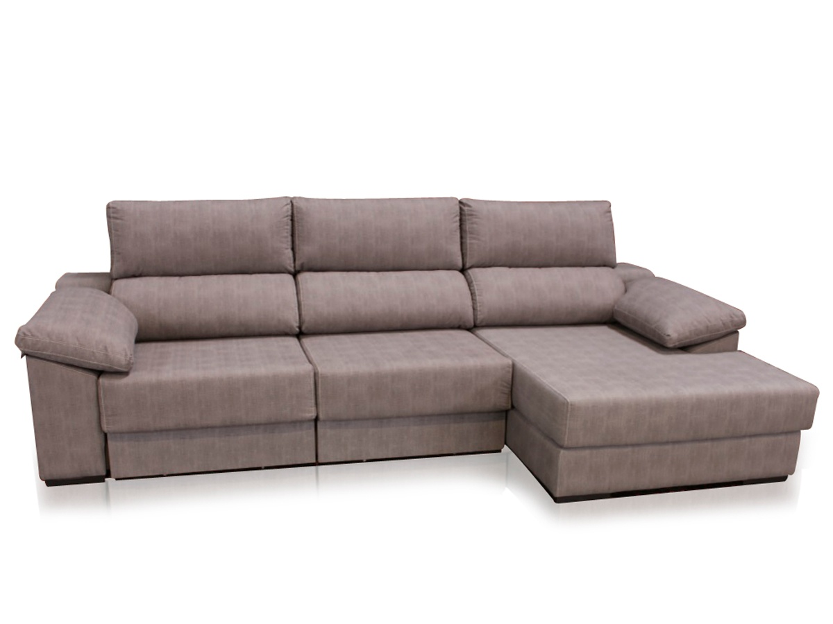Sof chaise longue y cama tapizado sof moderno for Sofa cama chaise longue