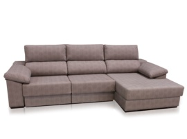 Sofá chaiselongue tapizado con cama