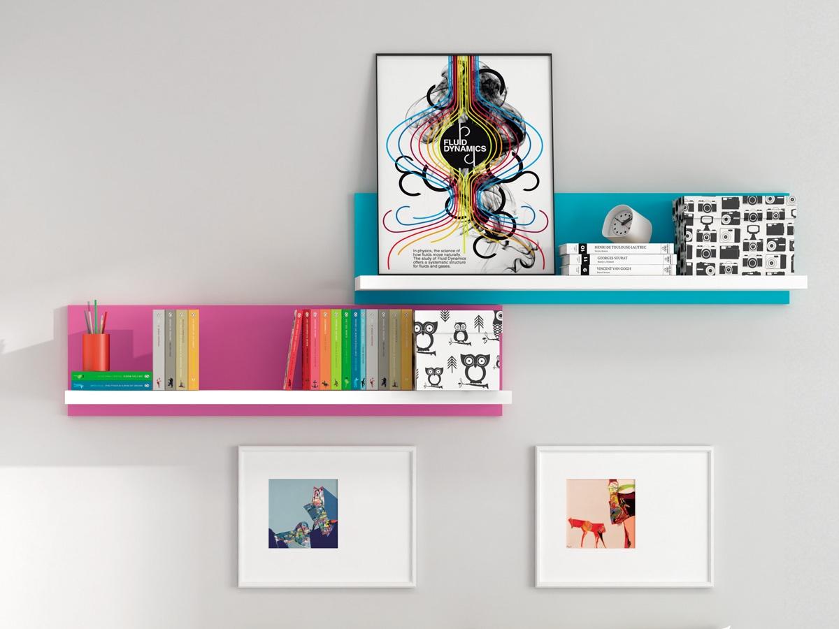 Estanter a de dise o para oficina de estilo di fano y colores - Estanterias diseno pared ...
