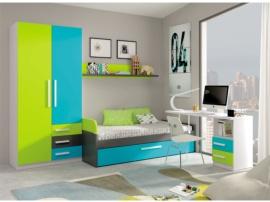 Muebles de dormitorio infantil, máxima capacidad