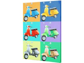 Cuadro pop art decorativo con vespas