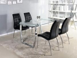 Mesa con tablero de cristal para comedor