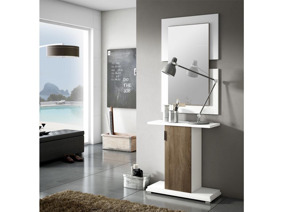 Mueble recibidor con espejo - Muebles entrada baratos ...