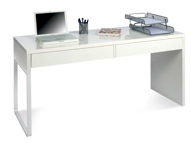 Escritorio blanco juvenil mesa de ordenador con cajones for Sillas de escritorio sodimac