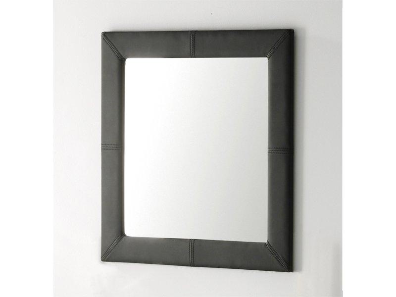 espejo cuadrado tapizado en polipiel comprar espejo