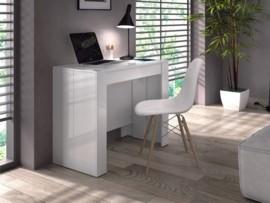 Mesa recibidor tipo consola en blanco extensible para comedor - Mesas comedor plegables tipo consola ...